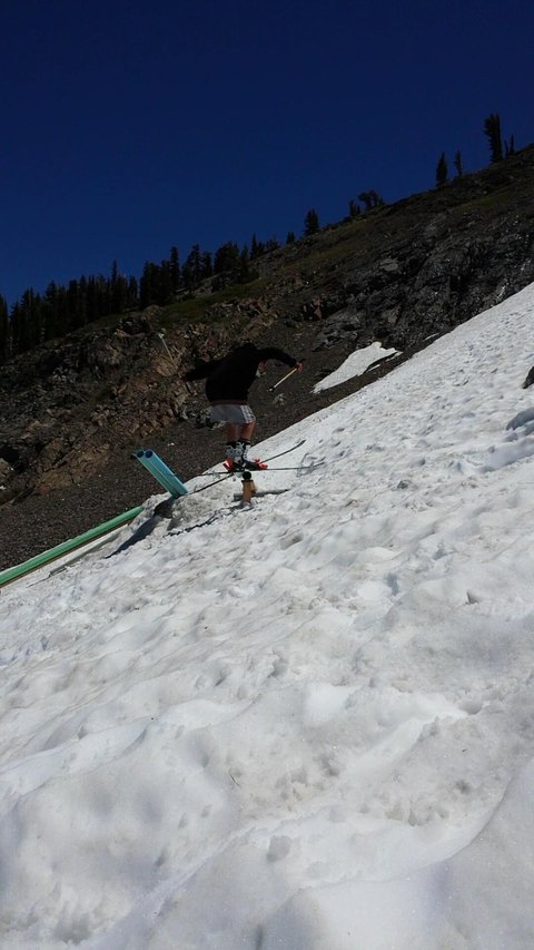 Summer skiing in lake tahoe