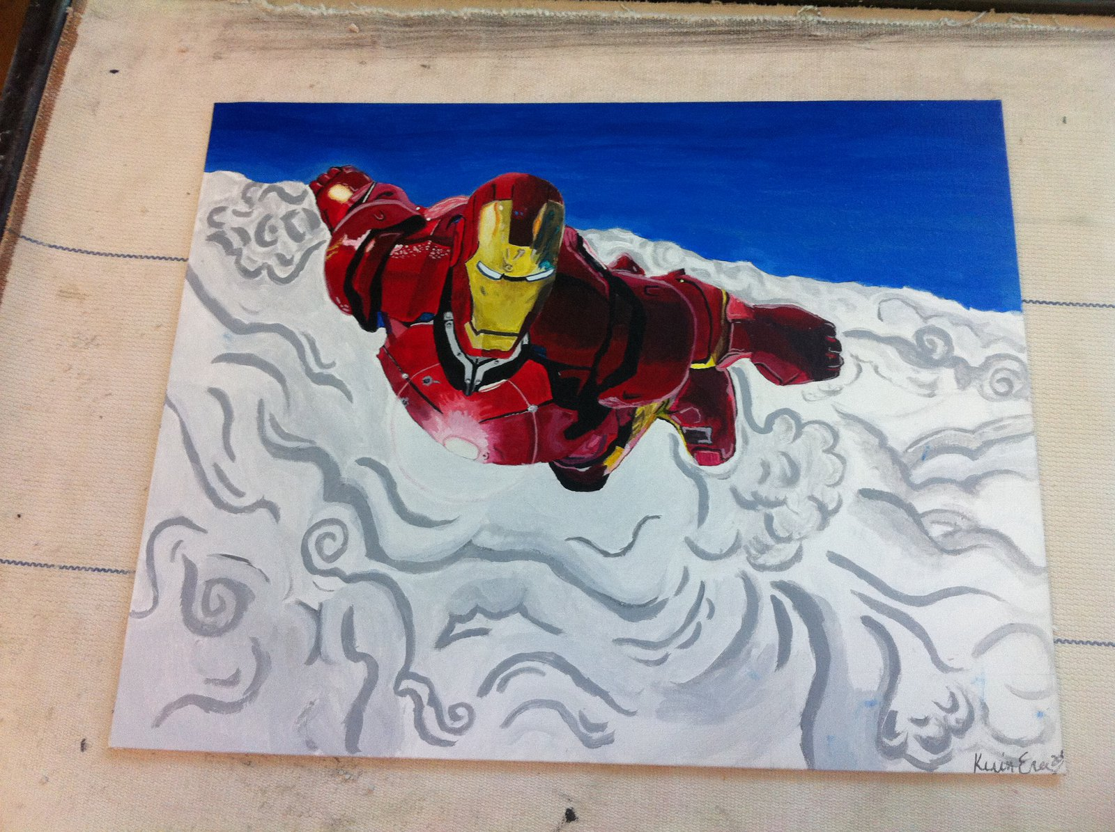 iron man painting