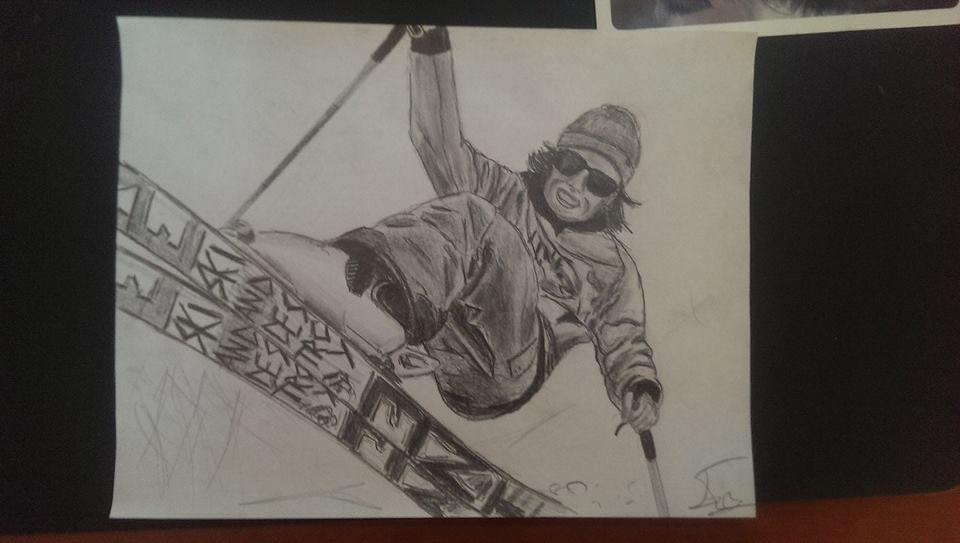 my drawing of ian compton!
