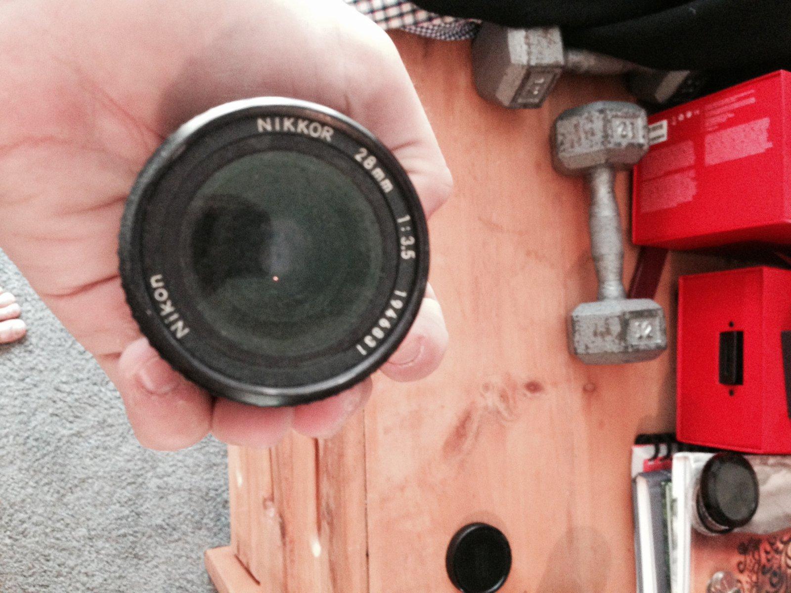 FS: Nikon 28mm 3.5 w/ canon eos convertor