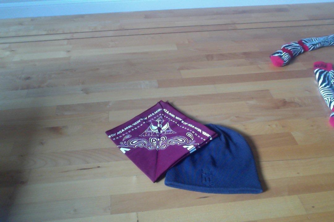 hat and bandana
