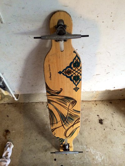 $75 Loaded dervish deck w/ free Randal 180 trucks - Sell and