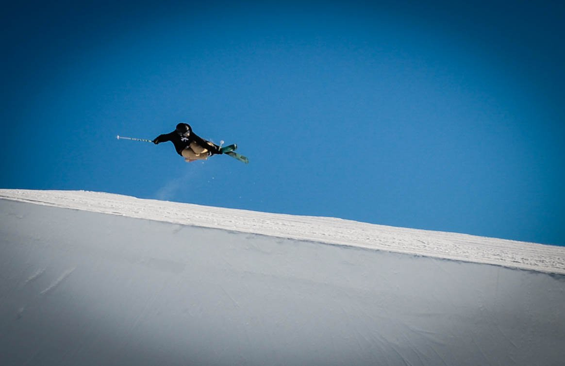 Pipe skiing is fun