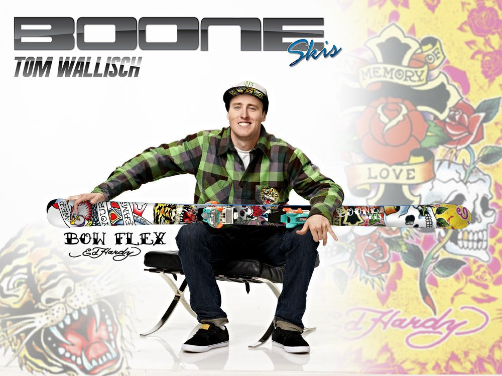 Tom Wallisch signs with Boone Skis