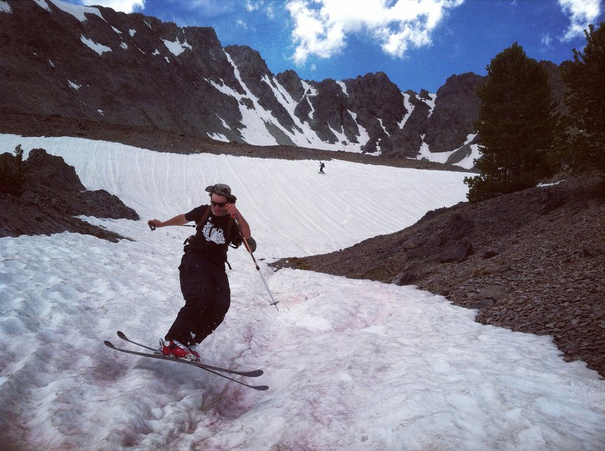 summer couloir shred!