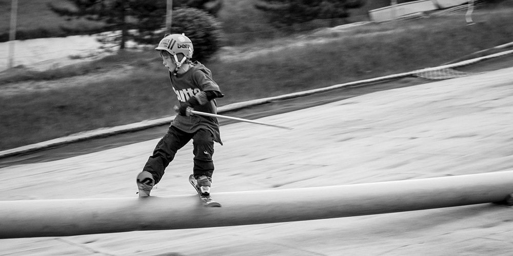 Bradley Fry 9 year old Skier from Nottingham