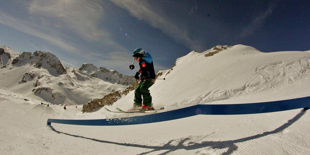 9 Year old Bradley Fry in Park at Tignes France