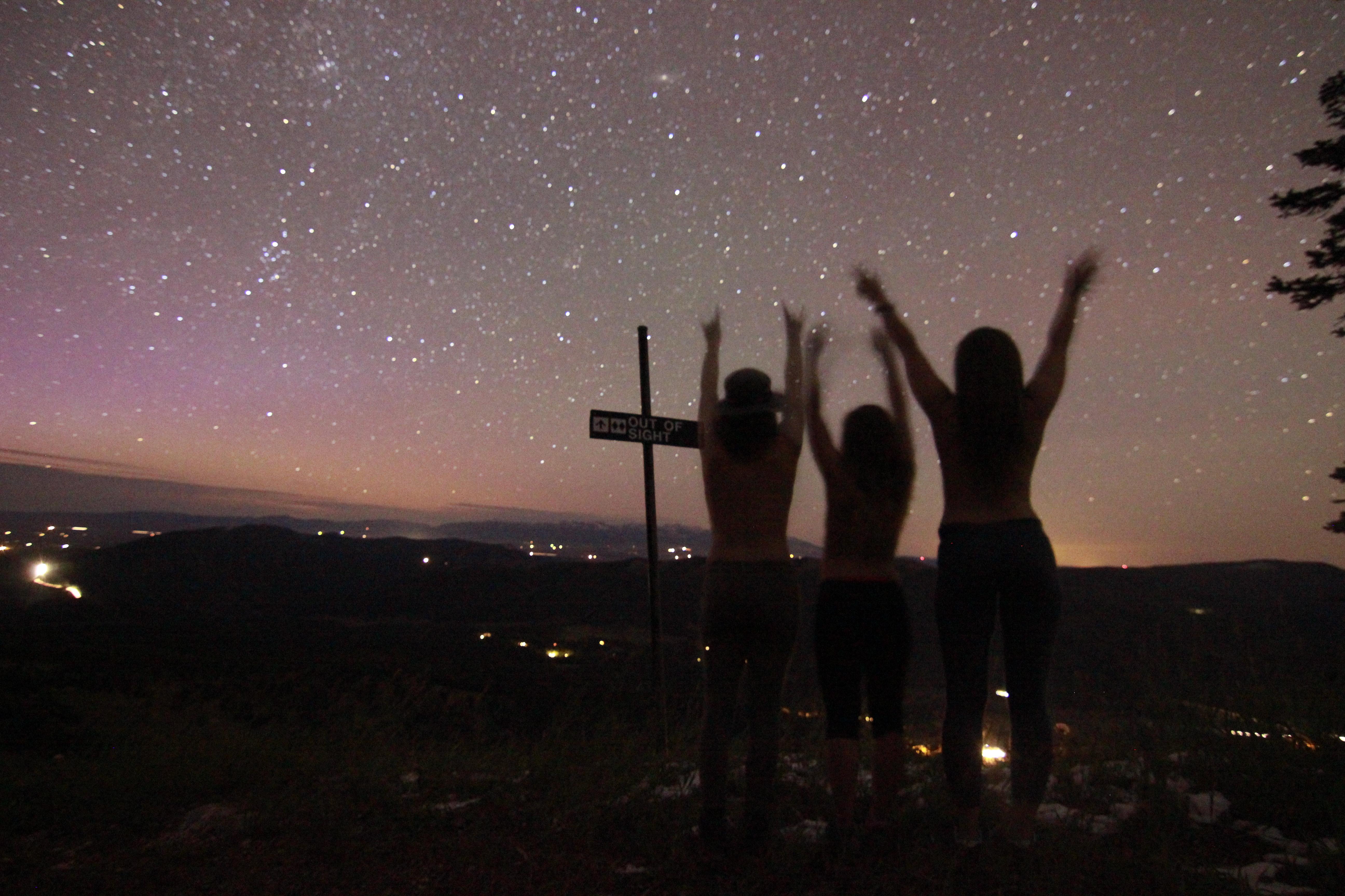 topless stargazing
