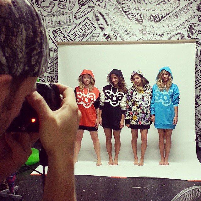 Photo shoot with oka swimwear