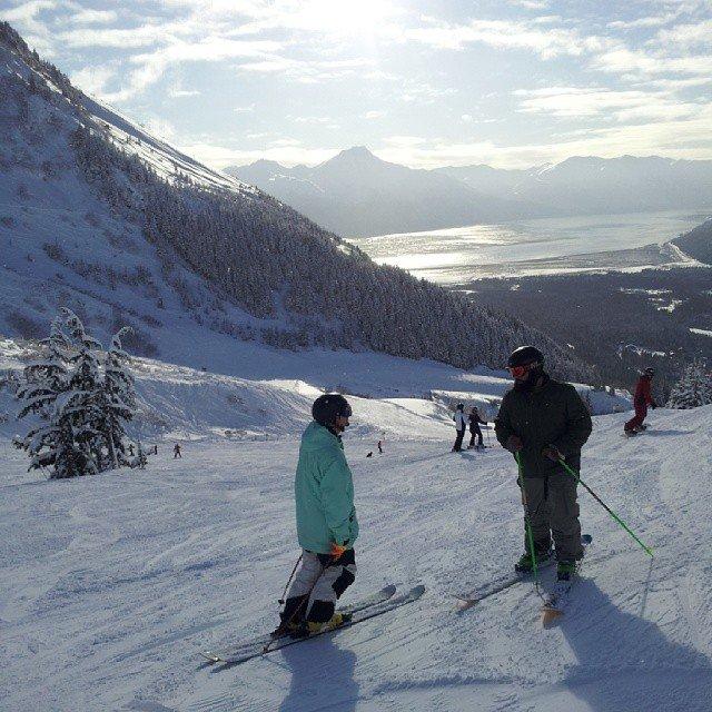 not skiing