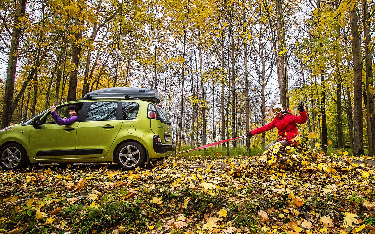 Fall without skiing?! It's impossible