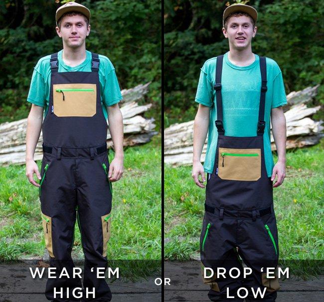 Wear 'em high or drop 'em low - NWT3K Bibs