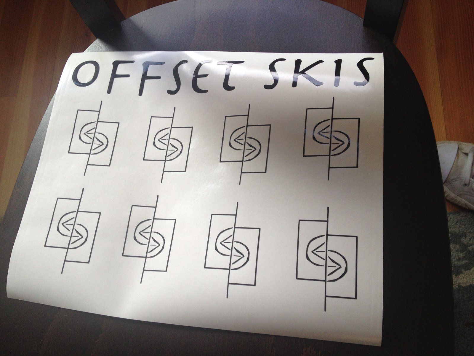 example work offset skis