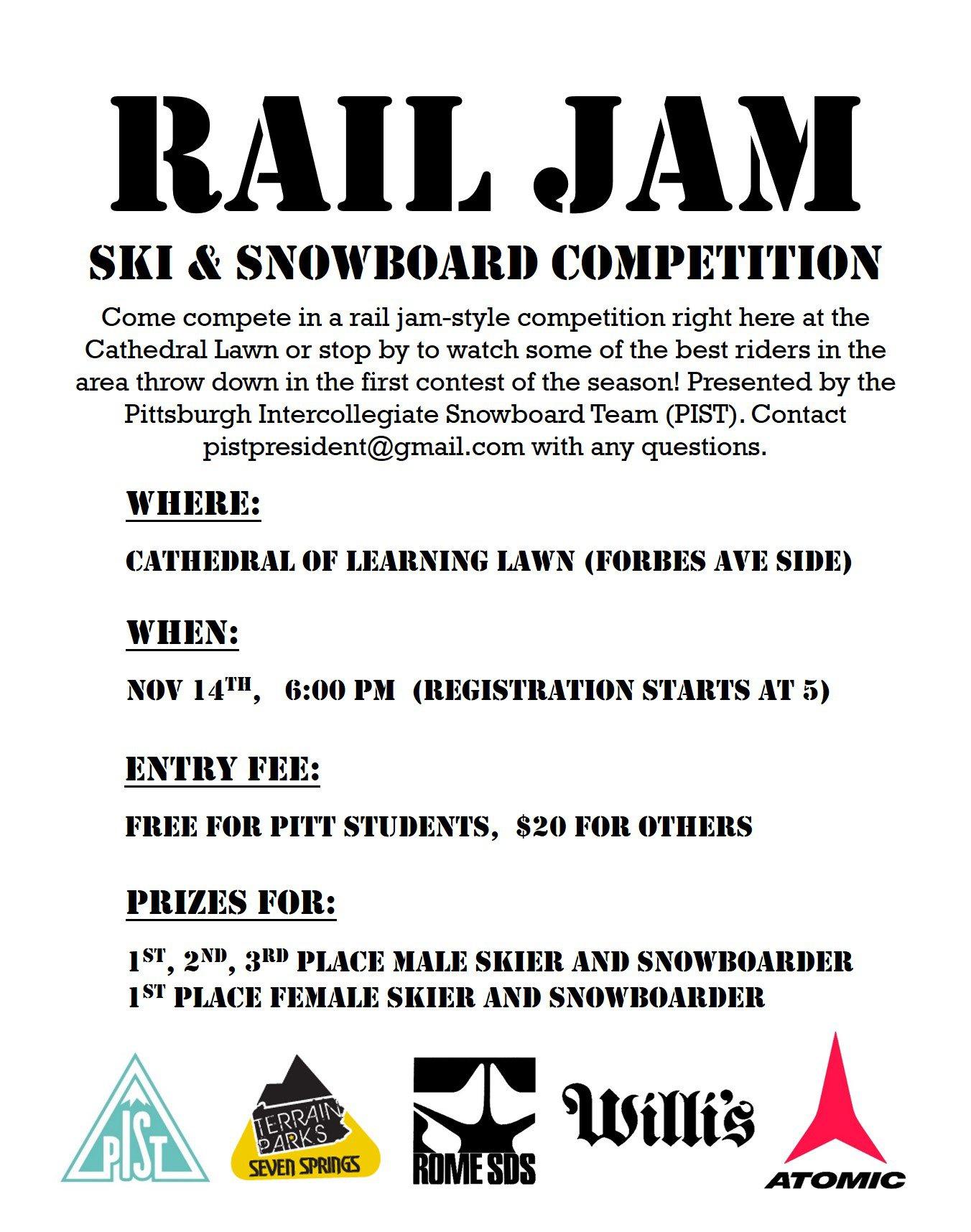 Pittsburgh Rail Jam Poster