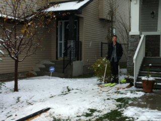 got some snow where I live