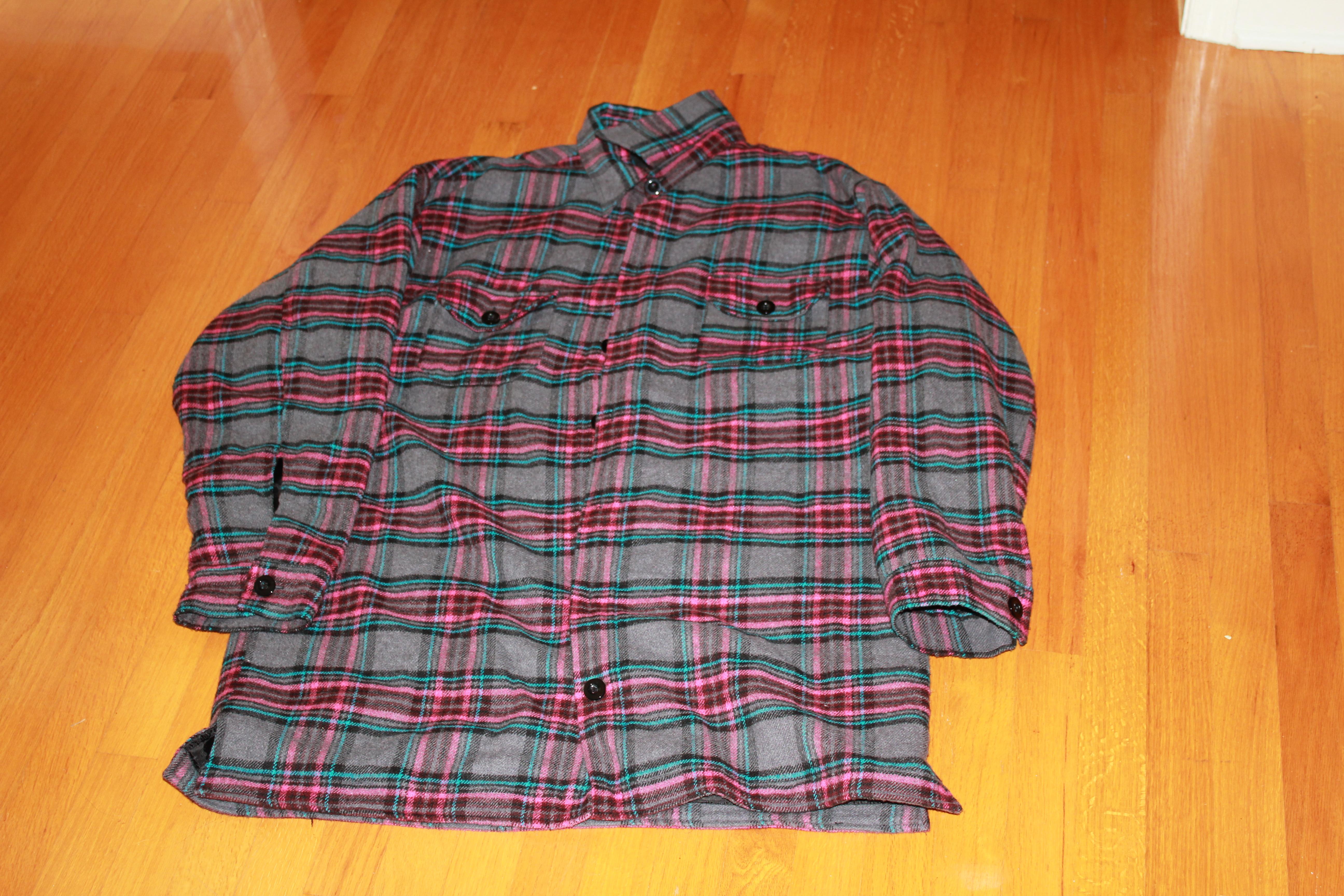 Team sized jiberish flannel