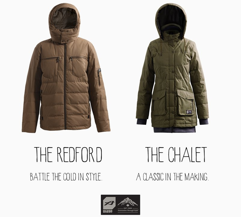 Win the Redford and Chalet Jacket by Orage