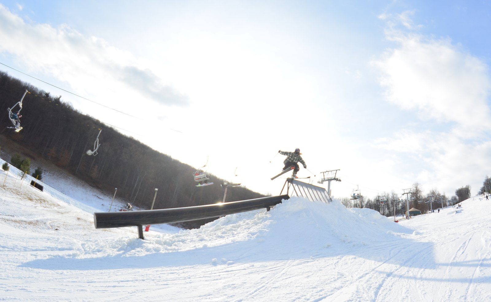 Gone skiing.