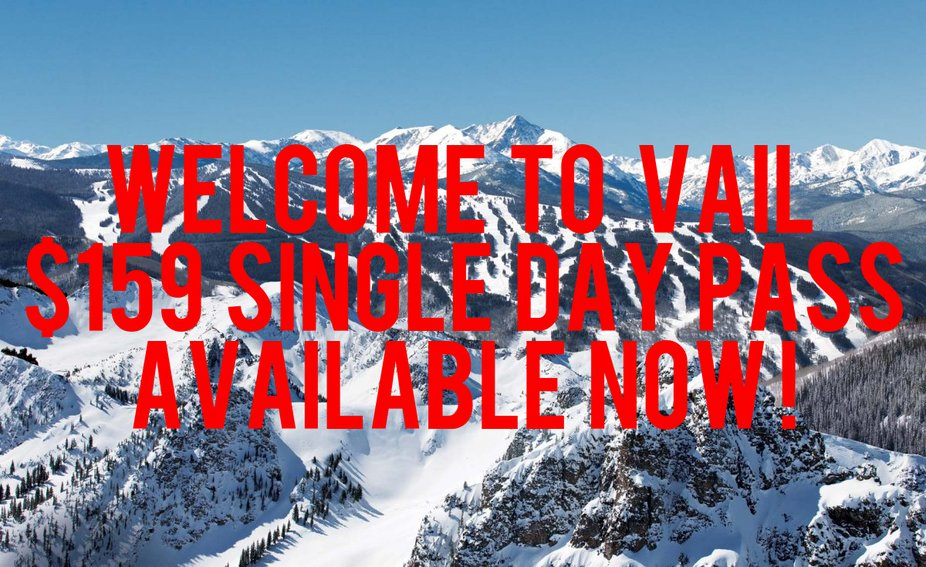 $159 Single Day Pass? Thanks Vail.
