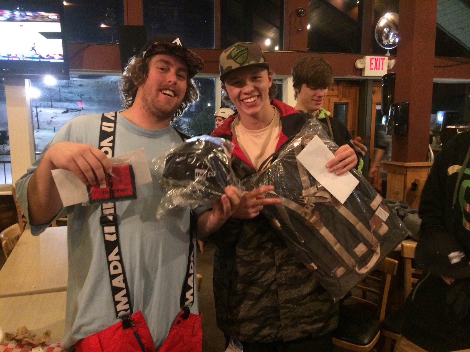 SkiBowl Rail Jam Winners