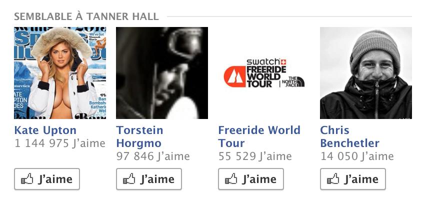 """Facebook """"similar to Tanner Hall"""" hahaaaa"""