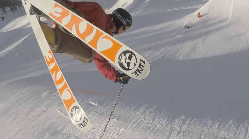 line skis in yo face