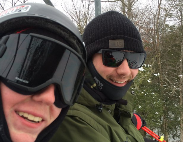 Skied With Mr.Bishop Today