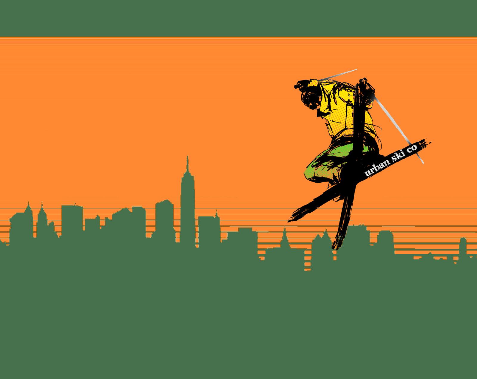 Urban Ski Co - Cityscape Negative