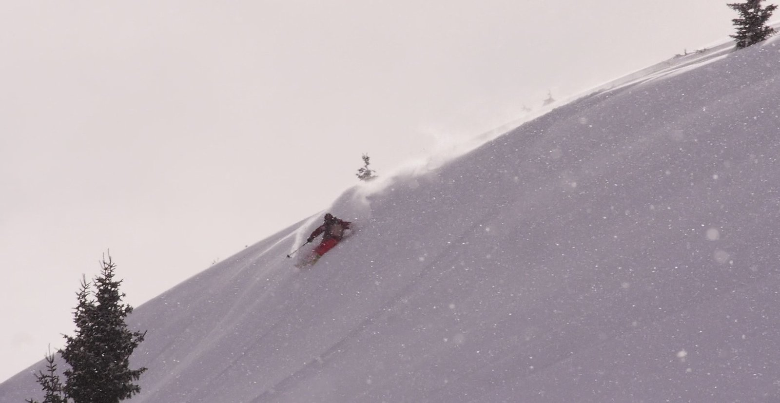 Ras Back Country Skiing in Glowing Snow!!!