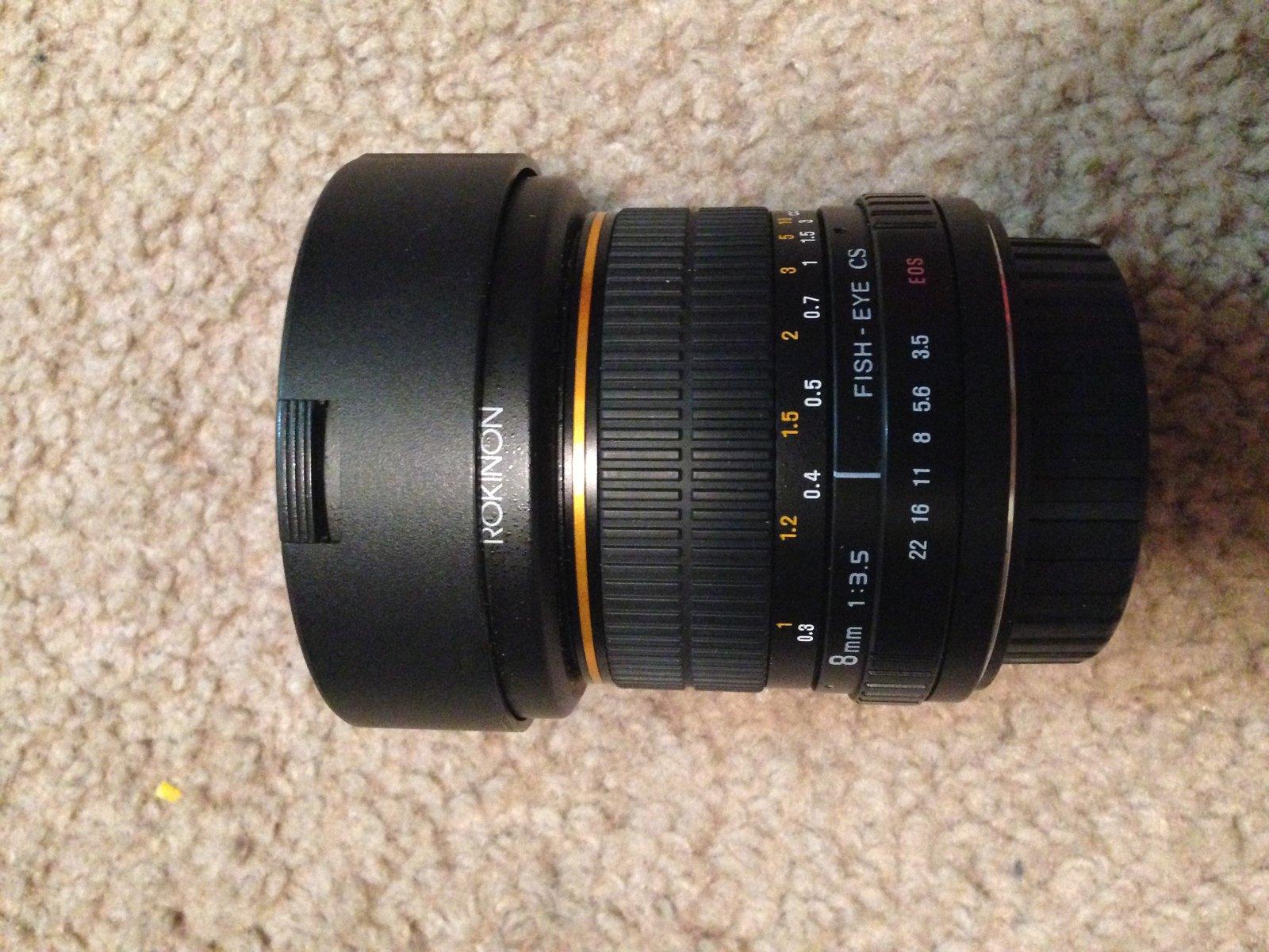 Rokinon 8mm for Canon sale