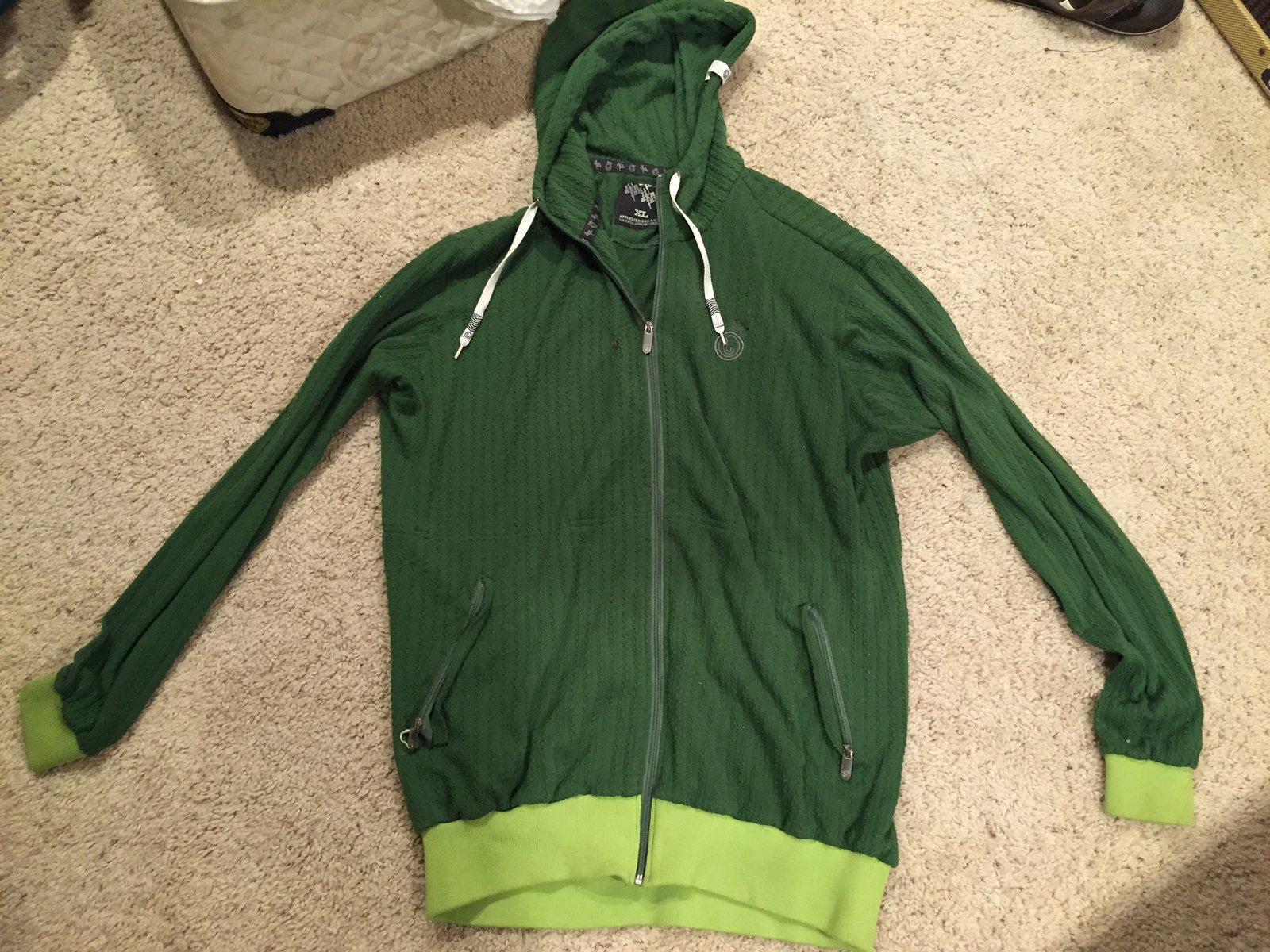 Green xl jiberish hoodie