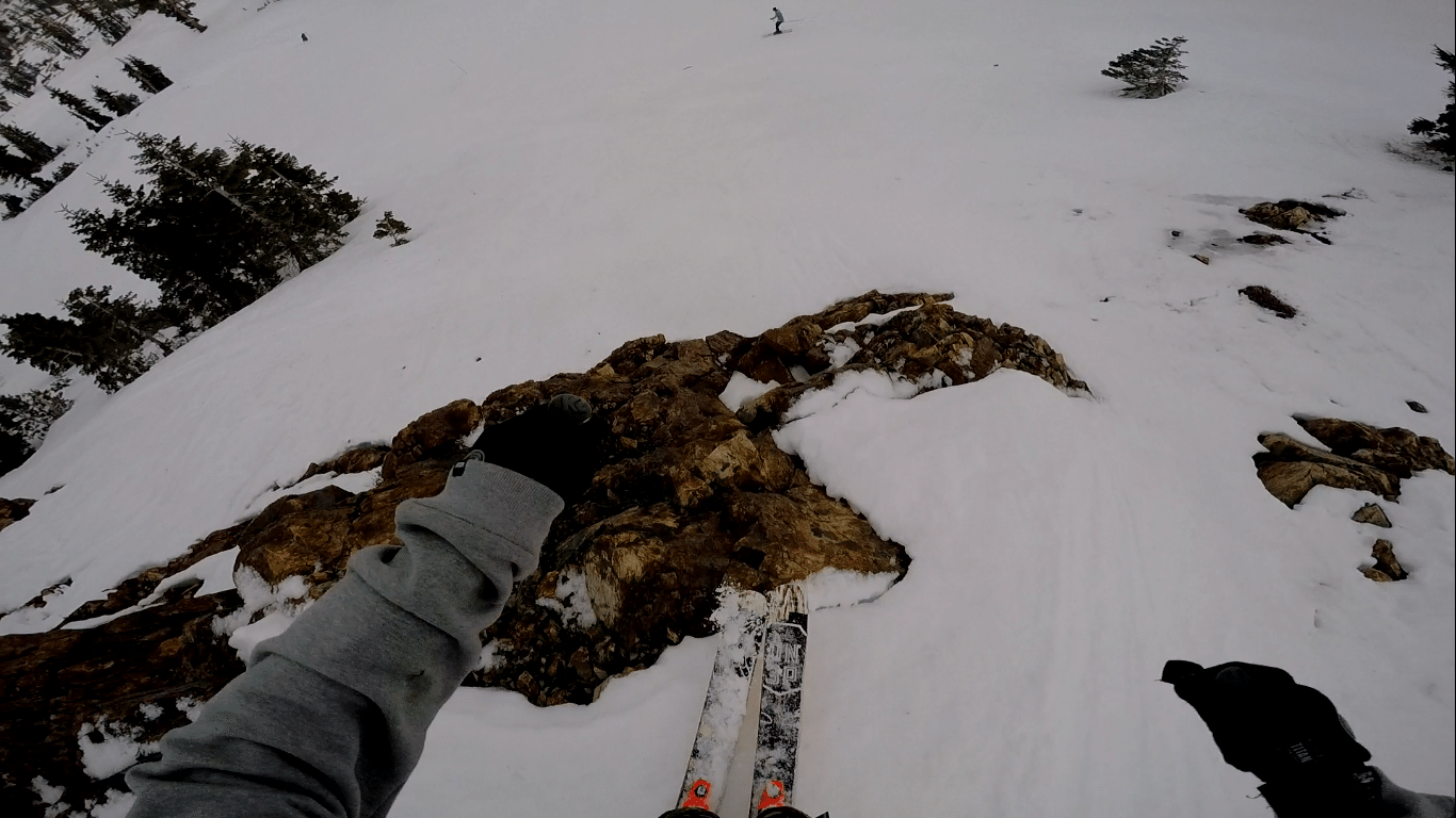Icy Alpine Cliff Jump