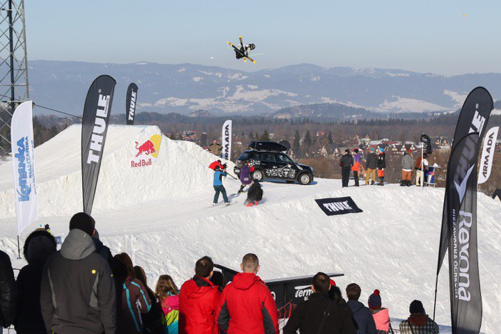 Erik Lundmark and Zuzana Stromkova take top spots during the Thule Polish Freeskiing Open 2015  driven by MINI