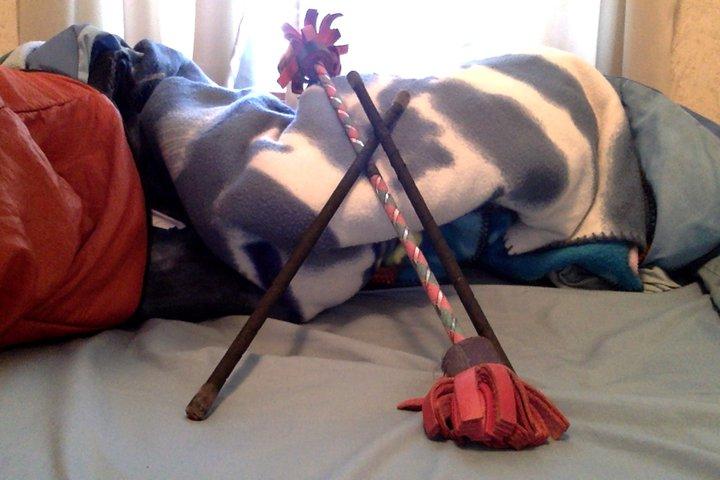 Hippy sticks.