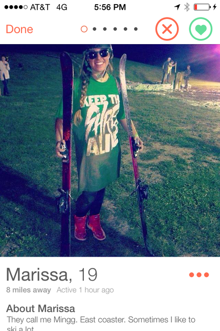 I swiped right