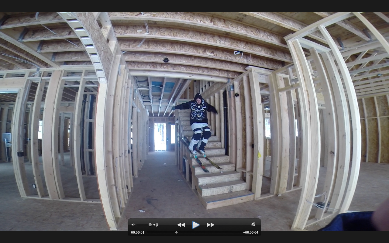 Have you ever skied inside a gaper's house?