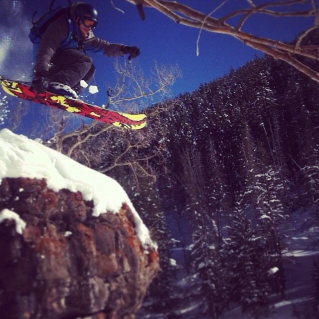 Cliff Dropping at Vail