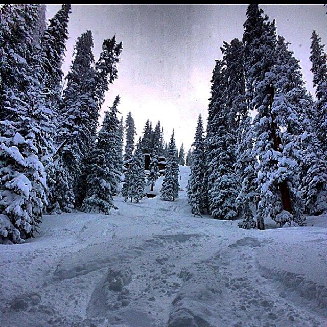 Deep snow and very steep at vail