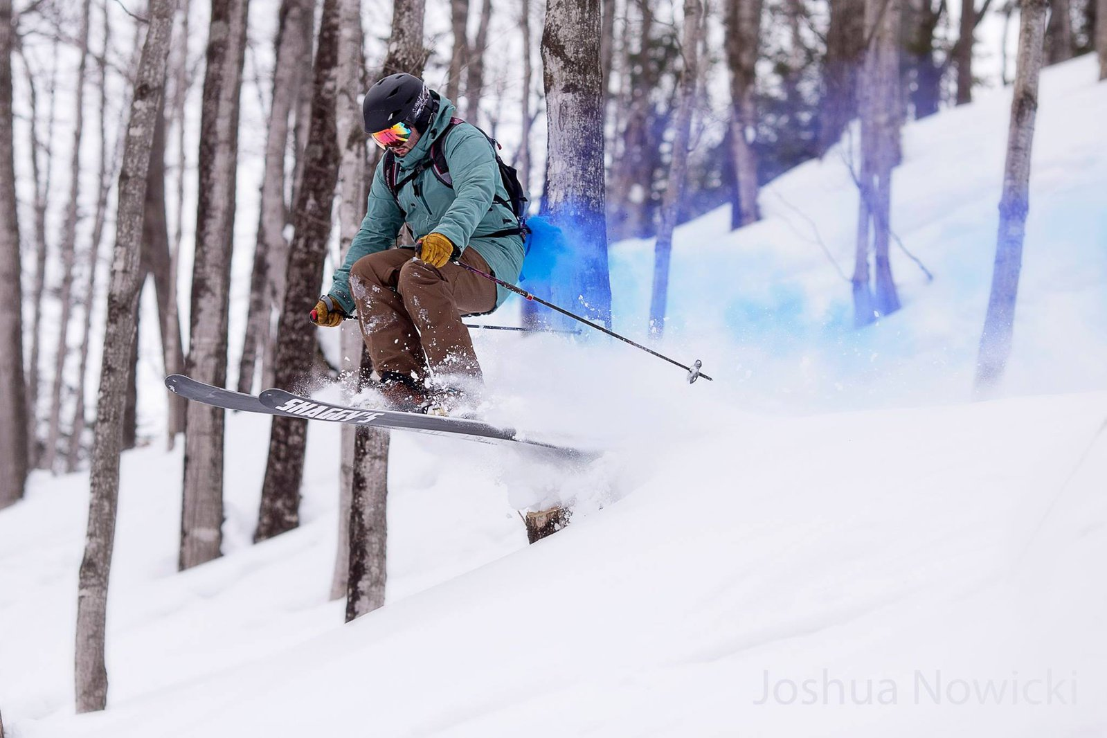 Smoke Bomb Skiing