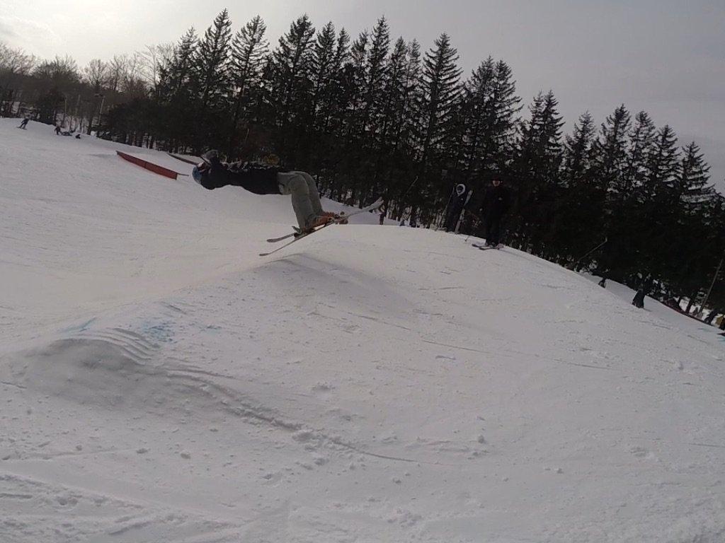 Isaac doing a back flip