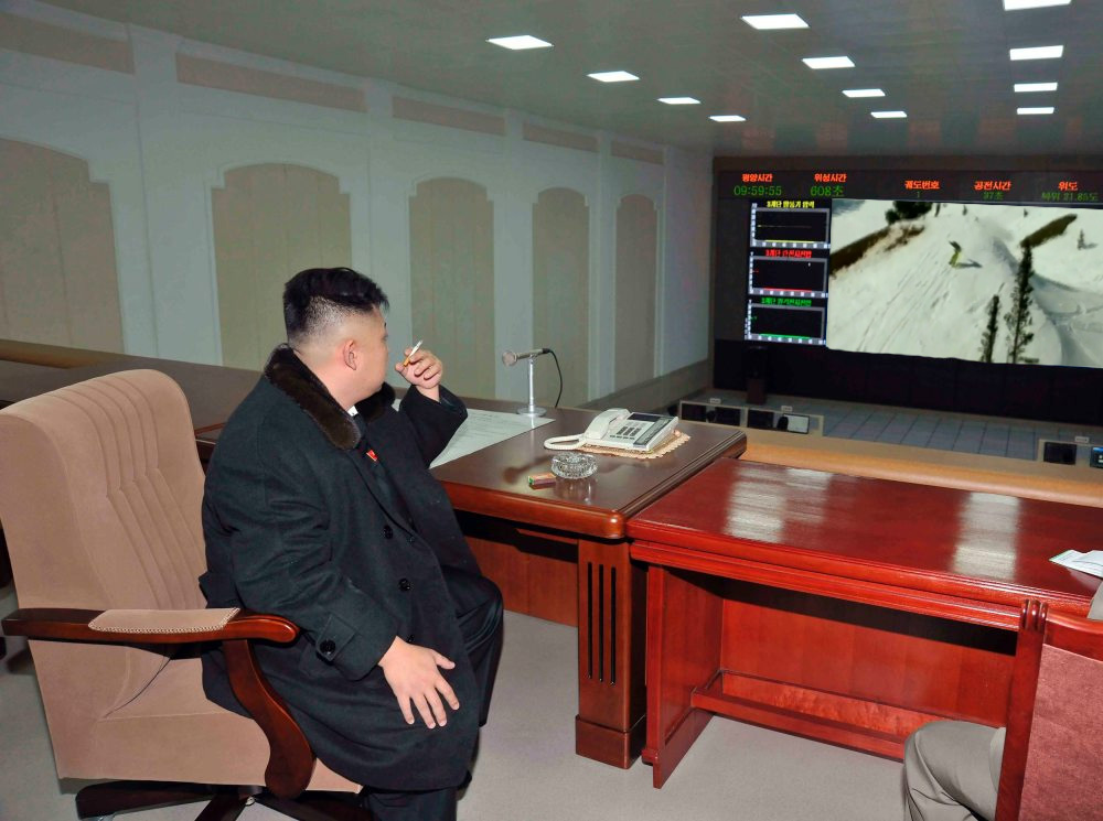 Jong-un watching T-Hall