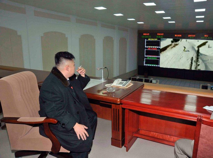 Jong-un watching T-Hall