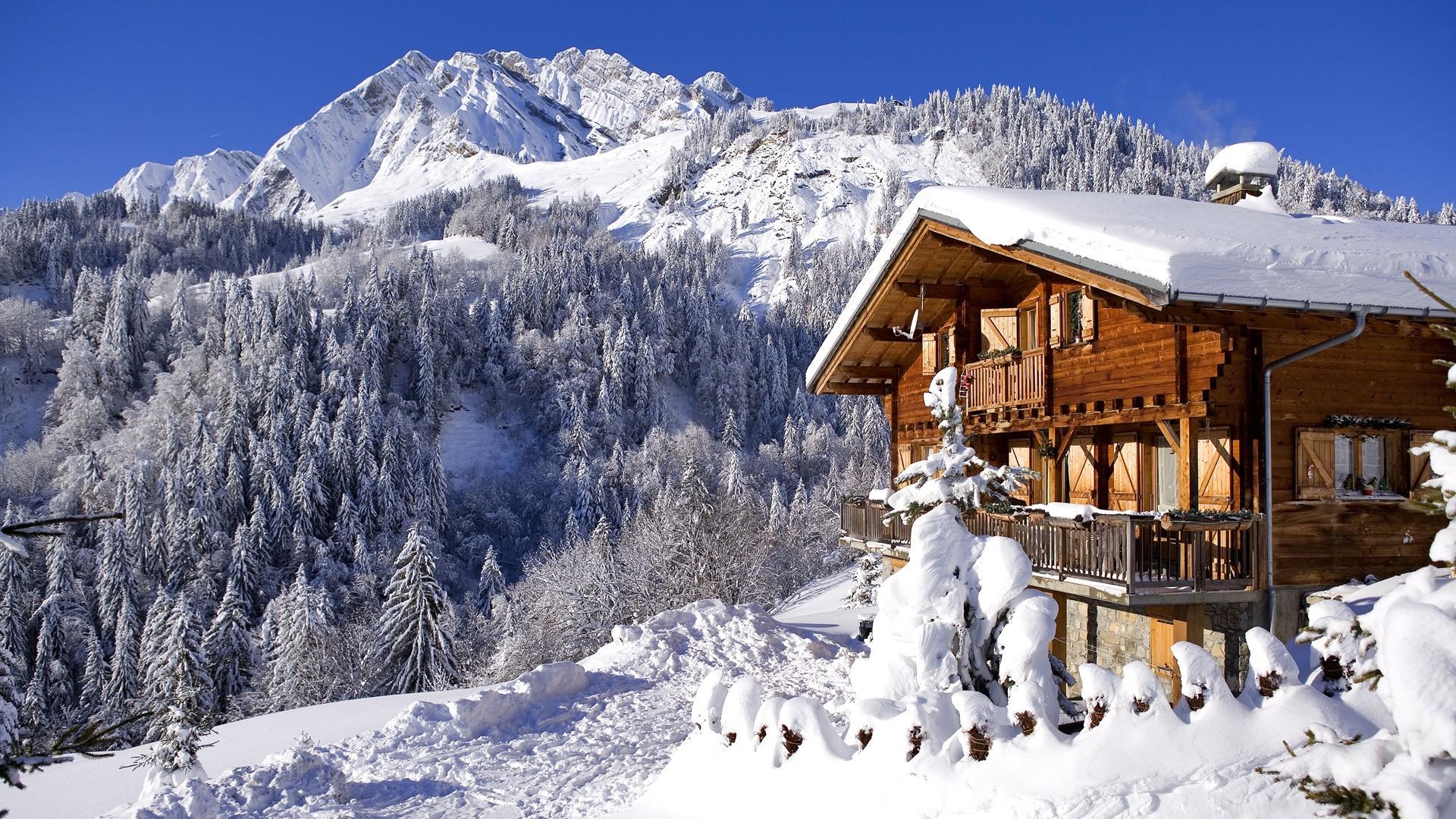деревня зима горы  № 3188428 без смс