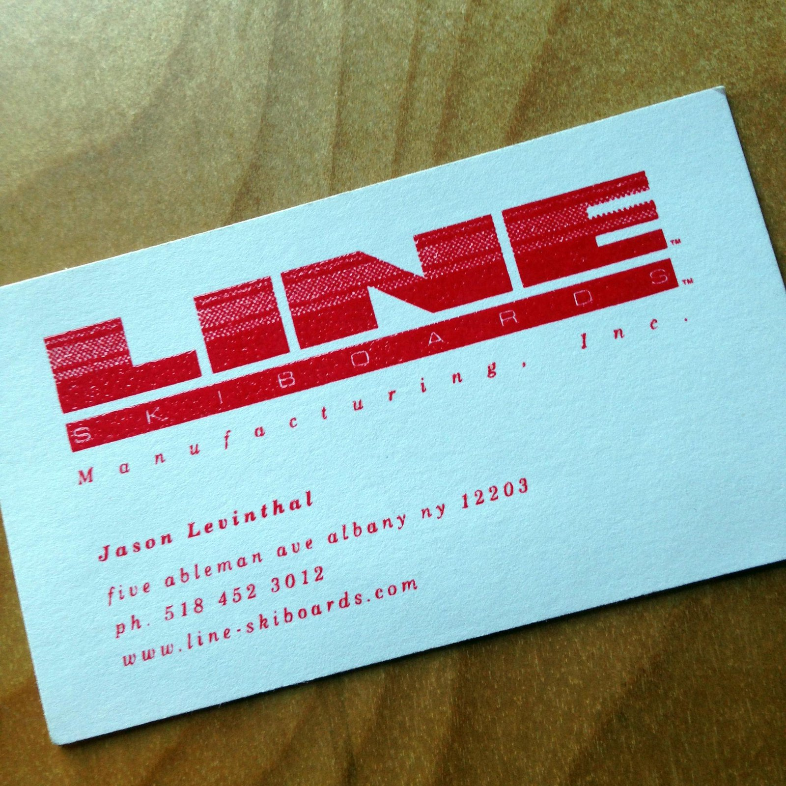 First business card