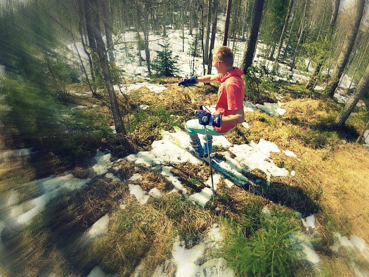 Finnish powder skiing