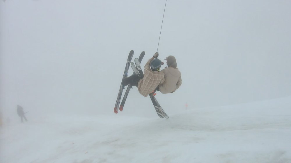 Rob Heule & Sandy Boville on the T-bar