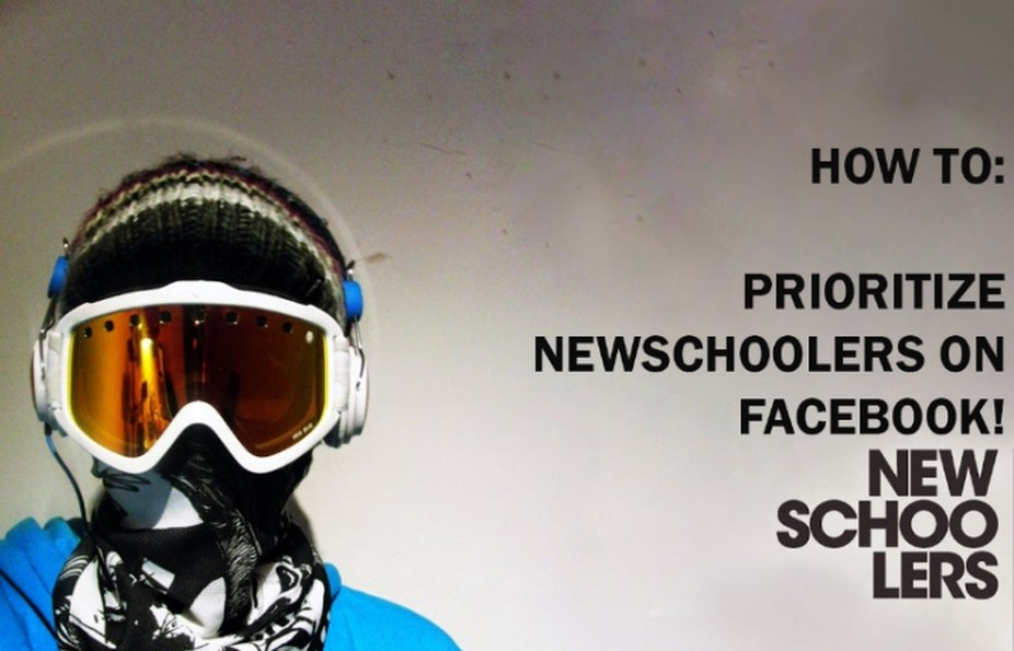 How To: Prioritize Newschoolers in Your Facebook News Feed