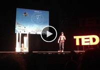 JLev TEDx talk about twin tip skis