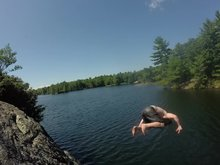Summer rock/bridge jumping