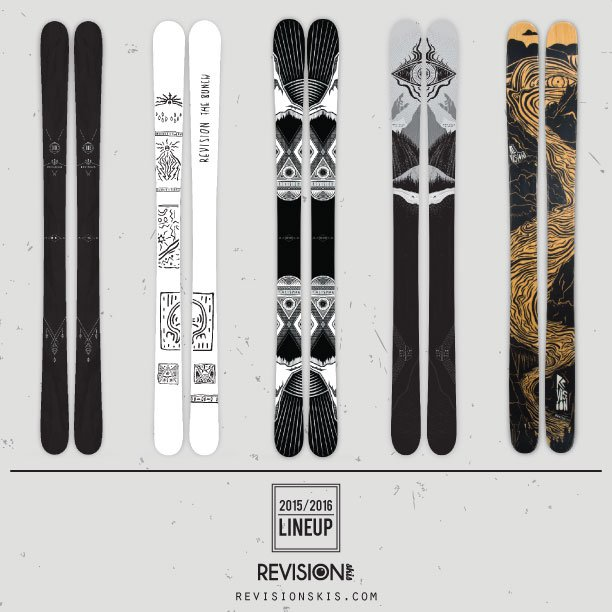 Revision Skis 15/16 LineUp